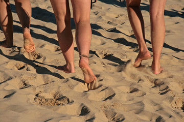 barfußlaufen am Strand
