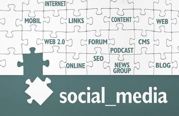 Puzzle mit Social Media