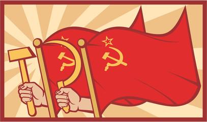 soviet flag poster (ussr)