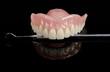 denture, dental tool, front, black