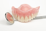 denture with oral mirror poster