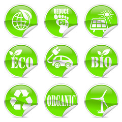 Eco label and sticker