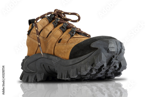 Tough Trekking Shoes Isolated on White Background