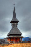 Wooden church in Transylvania, Romania poster