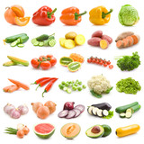 mega set of 30 different vegetables poster