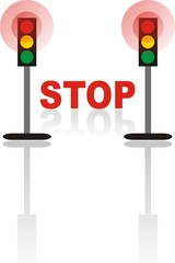 Stop (warning sign)