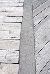 Wooden walkway pattern