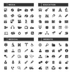 100 Black Web Icons