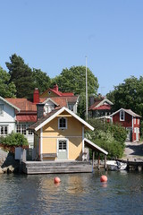 Schwedisches Dorf in den Schären