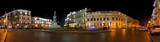 Night panorama of Ekaterininskaya square. Odessa.Ukraine