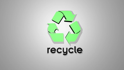 recycle logo animation
