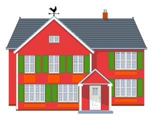 Rotes Wohnhaus