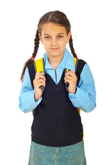 Student girl in first day of school