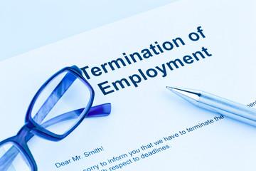 Kündigung durch Arbeitgeber (Englisch)