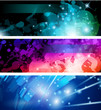 Flow of lights header backgrounds