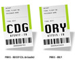Airport bag tags - ORY, CDG