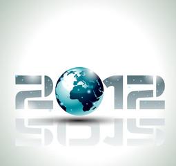 echnology style 2012 new year background