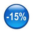 Boton brillante descuento -15%