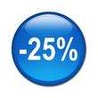 Boton brillante descuento -25%