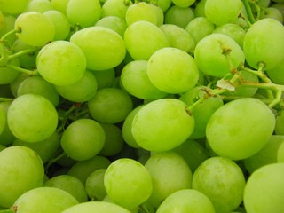 White grapes, uva blanca.