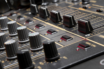 4-channel professional dj sound mixer