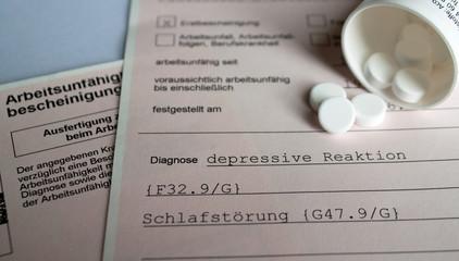 Krankmeldung Depressionen IV