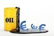 Oelfass gelb mit Euro 1