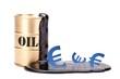 Oelfass gold mit Euro 1