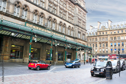 Poster Treinstation Glasgow Hauptbahnhof