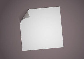 Feuille de papier corné