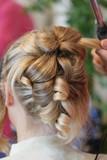Fototapety coiffure - chignon bouclé