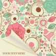 Paper page with floral pattern
