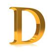"""3d Gold letter """"D"""""""