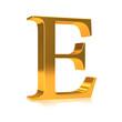 "3d Gold letter ""E"""