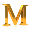 """3d Gold letter """"M"""""""