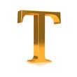 """3d Golden letter """"T"""""""