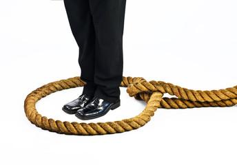 businessman in trap