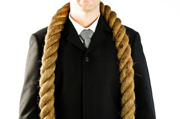 rope around neck