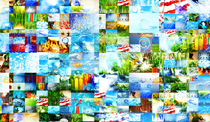 Abstract collage of images