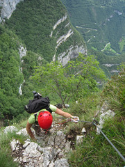 Ferrata-Klettersteig, northern Italy