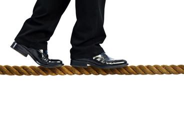 walking on rope