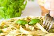 Pasta with pesto sauce