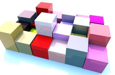 Giocando con cubi e colori 05