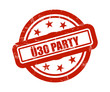 Sternen Stempel rot Ü30 PARTY