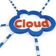 3d Cloud computing concept