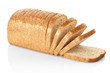 Sliced loaf of bread isolated on white, clipping path included