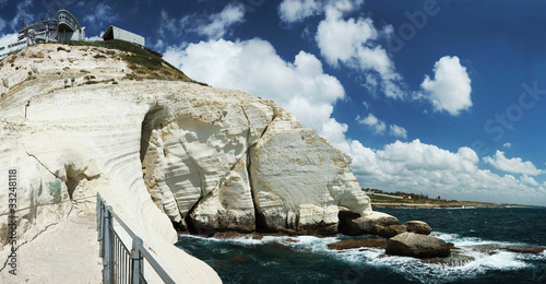 Panorama of Rosh hanikra cape,Israel