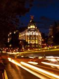 Metropolis Building in Gran Via, Madrid poster