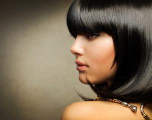 Beautiful Brunette. Egyptian Style. Hairstyle
