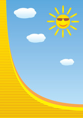Летнее солнце и небо